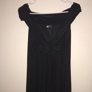 Missguided black off the shoulder dress